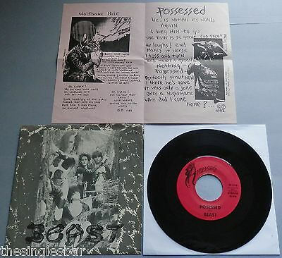 "Beast - Posessed USA 1982 Mdusias 7"" P/S + Insert - Cramps"