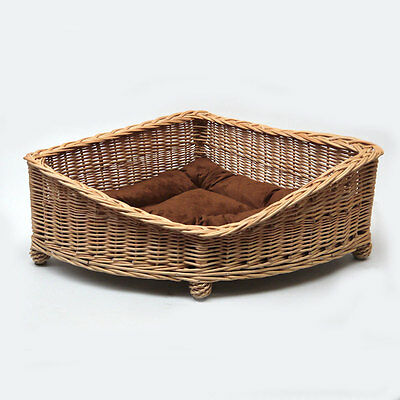 Luxury Large Wicker Dog Pet Bed Basket with Cushion EXPRESS DELIVERY AVAILABLE