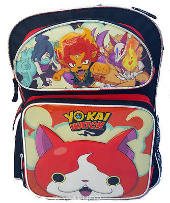 """YoKai Watch Large School 16"""" Backpack Boy's Book Bag Authentic Licensed NEW"""
