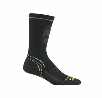Wigwam Women's Tech Pro Crew Socks, Lightweight, Black, M