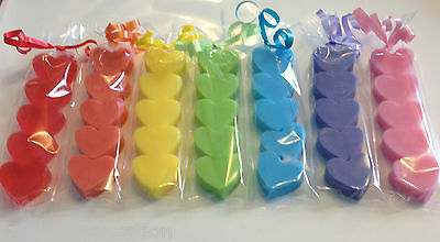 5 x Mini Heart Soaps- Girlfriend,Mum,Nan - Wedding Favour - Birthday