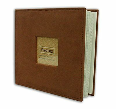"Suede Cover Rusty Bronze Photo Album, Holds 200 4""x6"" pictures  2 per page"