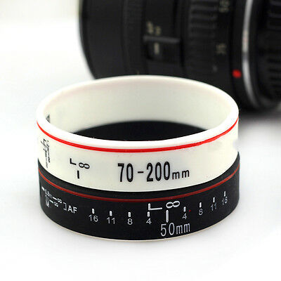 2pcs Lens Bracelet Wristband Photographers Collection Silicone Rubber Wristbands