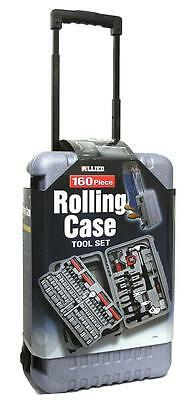 160PC Assorted Tool Kit, Mixed Hand Tools with Portable Rolling Case