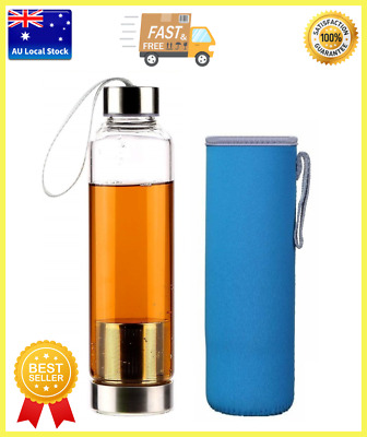 Glass Water Bottle With Infuser Travel Tea Bottle Coffee Bottle Car Bottle 500ml