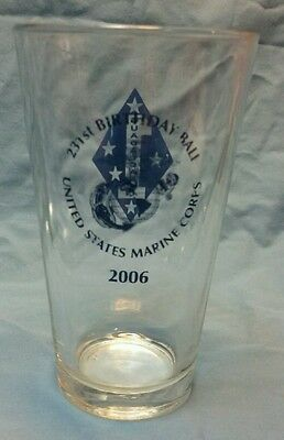 United States Marine Corps 231st birthday ball glass from 2006