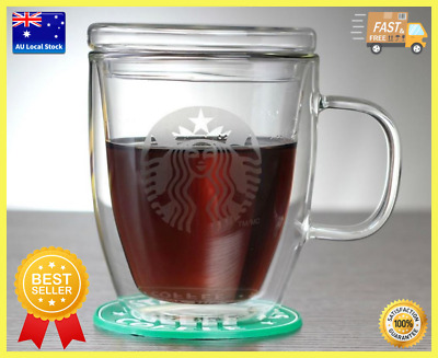 Large Size Starbucks Double Wall Coffee Cup Office Cup Tea Cup 475ml
