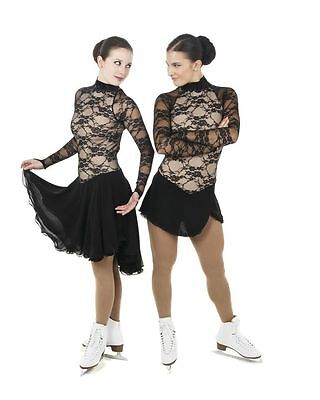 New Competition Skating Dress Elite Xpression 1417 Short Skirt LACE AS SMALL