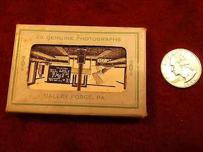 "Rare Old Vtg Antique Photo Pack ""25 Genuine Photographs, Valley Forge, Pa"" Vgc"