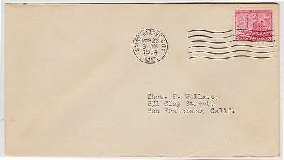 (USO-26) 1934 USA 3c letter to San Francisco (26Y)