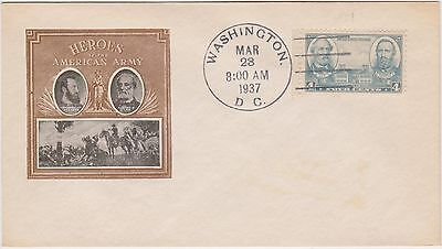 (USO-30) 1937 USA FDC 4c Heroes of the American army (30AD)