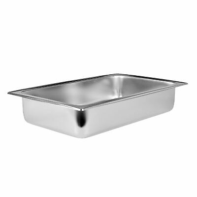 Thunder Group 8-Quart Stainless Steel Dripless Chafer Water Pan, Silver SLRCF111