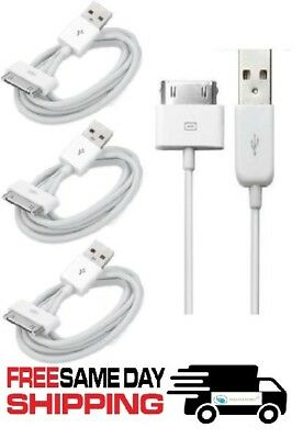 3x USB Sync Data Charging Charger Cable Cord fits iPhone 4 4S iPod Touch 4th Gen
