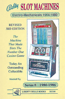 Bally Slot Macines Photo Guidebook for Electro-Mechaniclal and Series E