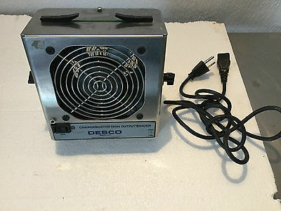 Desco 60500 Chargebuster High Output Benchtop Ionizer w/Mount & Cord