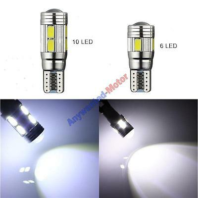 T10 501 W5W Car Side Light Bulbs Error Free Canbus 10 SMD LED Xenon HID White