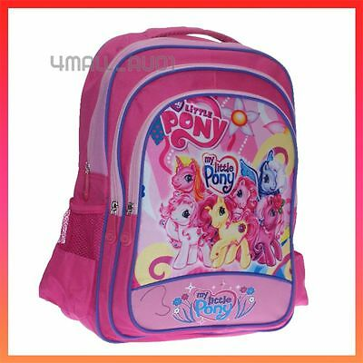 Kids Girls Large Shoulder Campus School Bag Backpack My Little Pony Picnic New