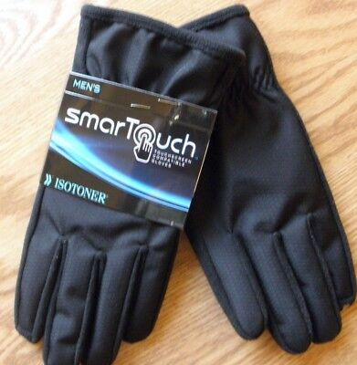 Isotoner Smartouch Men's Winter Gloves  Size Large  ''Touchscreen Compatible''