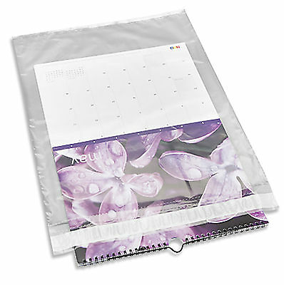 100 10x13 Clear Poly Mailer with Self Seal Flap 1.5 MIL Polyethylene See Through