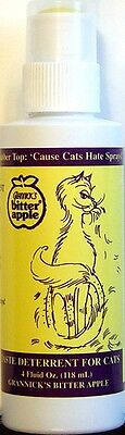 Grannicks Bitter Apple Dabber Top Bottle For Cats 4oz(Free Shipping in USA)