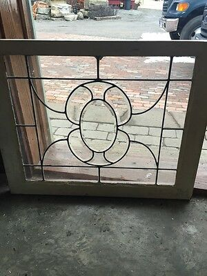 Sg 429 Two Available Priced Separate Antique Beveled Glass Center Windows