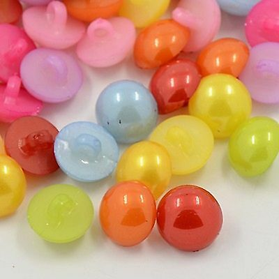 lot 20 boutons dome demi 12mm multicolore couture mercerie scrapbooking neuf
