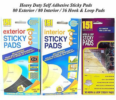 80 Strong Sticky Pads Double Sided Foam Self Adhesive Home Office Mounting Tape