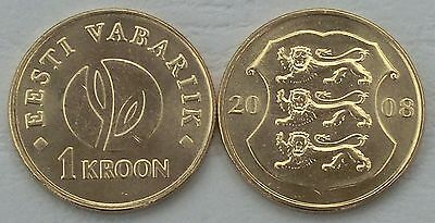 Estland / Estonia 1 Kroon 2008 p44 unz.
