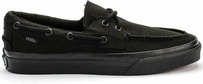 63dd32656ae2 Vans Zapato Del Barco Canvas Black Black Mens Shoes VNOXC3186 Boat Sizes