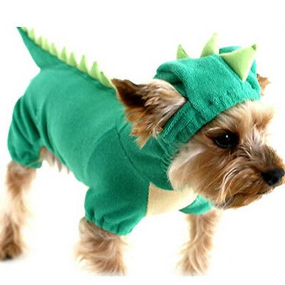 Pet Coat Costume Fancy Hoodie Dog Cat Dinosaur Clothes Puppy Apparel Outfit