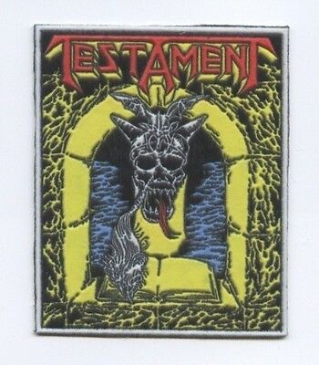 Testament synthetic 3D patch early 80's RARE