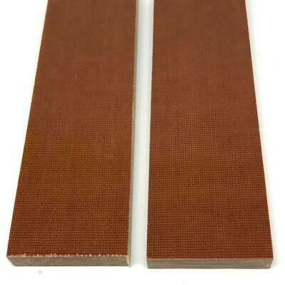 "Canvas Micarta Knife Handle Scales Slabs 1/4"" x 1.5"" x 5""- NATURAL BROWN - 2 pcs"