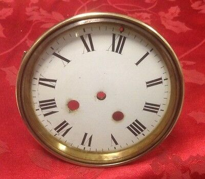French Clock Glass Bezel With Glass And Door Porcelain Dial Straps Dial Plate