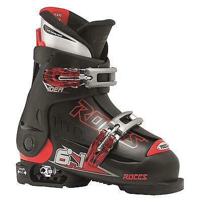 Roces Idea Adjustable Youth Ski Boots Black-Red 16.0-18.5