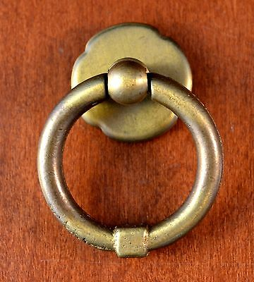 "Vintage KEELER BRASS Co. Drawer Ring Pull #A5154 Brass Round 1 1/2"" (1 Only)"
