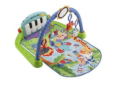 Fisher-Price Kick and Play Piano Gym-Blue (CHM31)  FREE SHIPPING NEW CXX