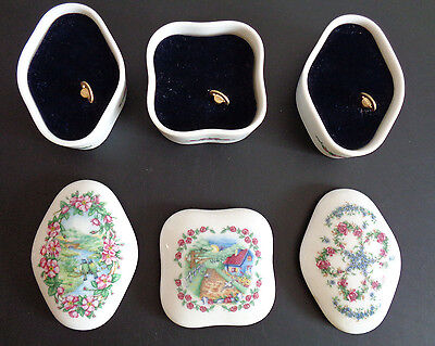 SONGS OF LOVE Music Box Series HERITAGE HOUSE Lot of 3 Vintage 1985 Free Ship