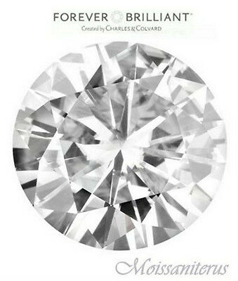 Loose Round 6mm Forever Brilliant Moissanite = 3/4ct Diamond with Certificate