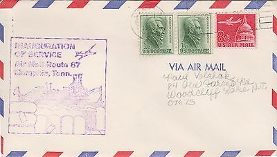 (USO-362) 1967 USA 3stamps air mail service Memphis (362MG)