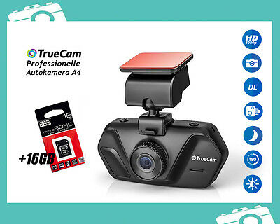 KFZ Autokamera TrueCam A4 FULL HD 1080p Car Camera G-Sensor Night Vision +16GB