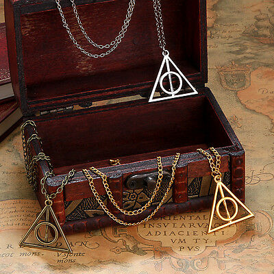 Harry Potter Deathly Hallows Pendant Necklace - USA SELLER (CALIFORNIA)