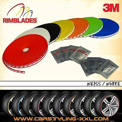 NEW - Rimblades with 3M glue - Singlepack - colour: white - Premium rim protecti