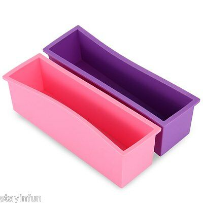 Rectangle Brick Handmade Soap Pastry Bread Loaf Cake Silicone Mold Bakeware 1.2L