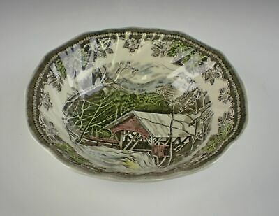Johnson Brothers THE FRIENDLY VILLAGE(ENGLAND 1883) Square Cereal Bowl(s)  EX!