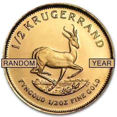 South Africa 1/2 oz Gold Krugerrand (Random Year) - SKU #1016