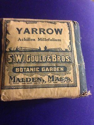 "S.W. Gould & Bros. Malden, Mass.  Botanical Preparations ""Yarrow"" Apothecary"