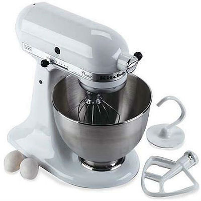 Kitchenaid Classic Plus 45 Qt Stand Mixer kitchenaid classic 4.5 qt. tilt-head white stand mixer • $361.99