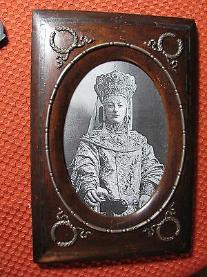 Antique Russian Faberge  silver 88  wooden   frame