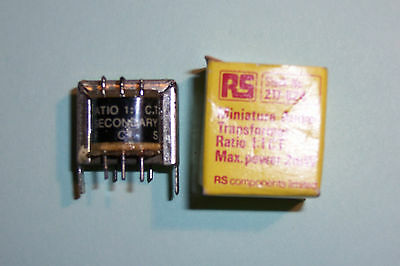 Miniature audio transformer 2mW 800Ohm 1:1 CT New old stock RS Components part