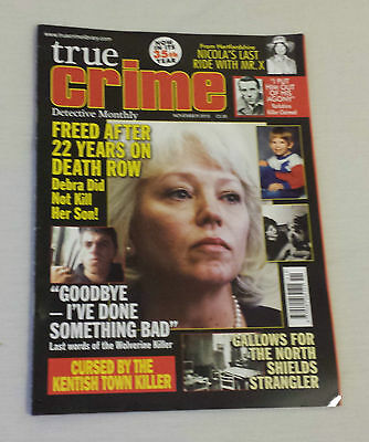 TRUE CRIME DETECTIVE MONTHLY MAGAZINE November 2015 Murder Police Criminal Case
